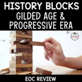 Gilded Age and Progressive Era Review Game:  Tumbling Towers EOC Review