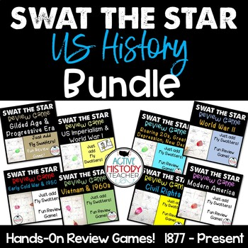 US History Review Games:  Swat the Star EOC Review