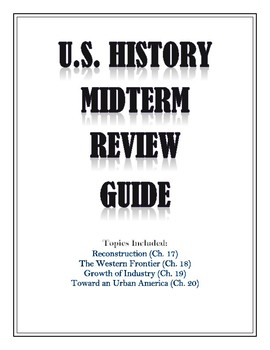 US History Review Guide {Reconstruction through Immigration, 1865-1914}