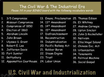 The Civil War & The Industrial Era: US History Review PowerPoint Presentation