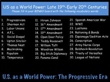 U.S. as a World Power & Progressivism: US History Review PowerPoint Presentation