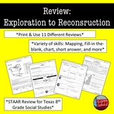 American History STAAR Review Bundle : Exploration to Reco