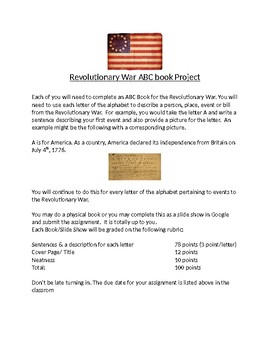 US History-Revolutionary War ABC Book