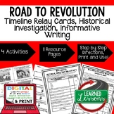 Road to Revolution Timeline & Writing, Digital Distance Le