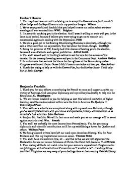 "US History ""Roasts"" - AP History review"