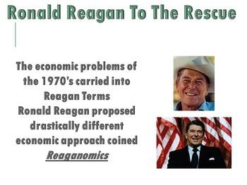Ronald Reagan and the Economy Reaganomics PowerPoint (U.S. History)
