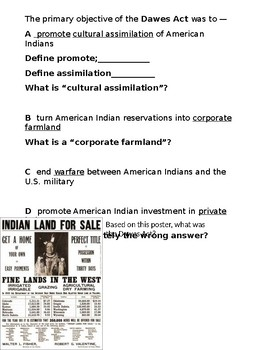 US History STAAR Questions for ELL/SPED Westward Expansion-Imperialism