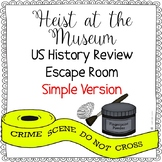 US History STAAR Review Escape Room Activity - Simple Version