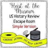 US History Review Escape Room Activity - Simple Version