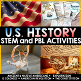 US History STEM Challenges & PBL Activities   United State