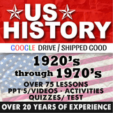 1920's to 1970's US History Second Semester Bundle