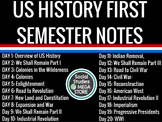 US History Early America - World War I First Semester Guided Notes Teacher