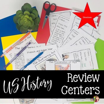 US History Semester Review Center Directions