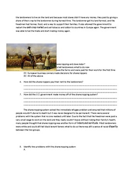 US History: Sharecropping