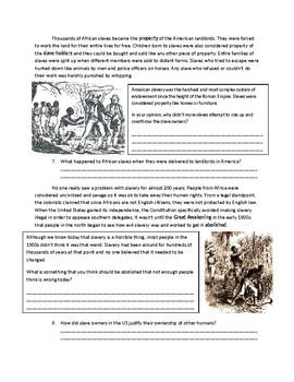 US History: Slavery