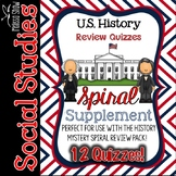 US History / Social Studies Spiral Review Quizzes