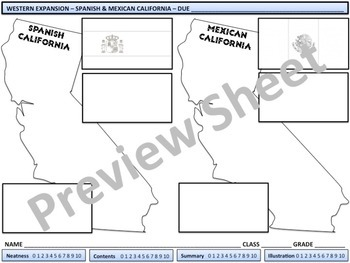 U.S. History - Western Expansion - Spanish & Mexican California