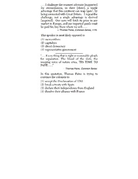 US History - Speaker Perspective Skills Quiz 1 of 4 (Units 1-10)