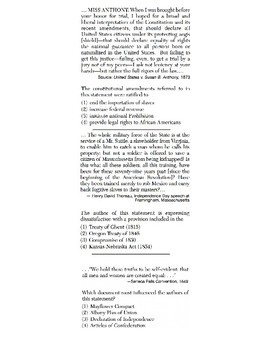 US History - Speaker Perspective Skills Quiz 2 of 4 (Units 11-20)