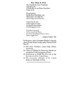 US History - Speaker Perspective Skills Quiz 4 of 4 (Units 28-37)