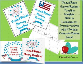 US History Student Timeline Booklet Create Your Own Timelines!