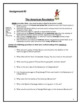 US History Study Packet Review Test and Answer Key