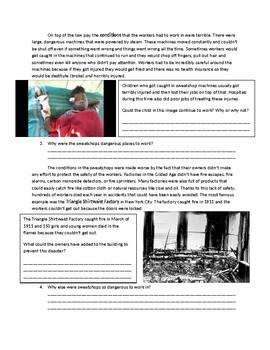 US History: Sweatshops and Child Labor