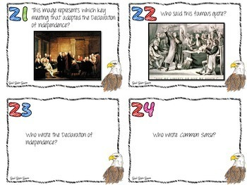US HISTORY TASK CARDS BUNDLE