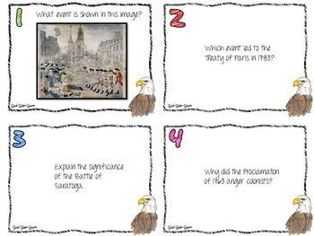 US HISTORY GAMES TASK CARDS BUNDLE