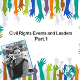 US History Teacher/Sub Activity: Civil Rights Events and Leaders Part 1