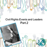 US History Teacher/Sub Activity: Civil Rights Events and Leaders Part 2