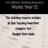 US History Teaching Resource- WWII