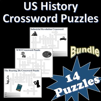 US History Terminology Crossword Puzzles Bundle