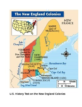 US History Test on The New England Colonies