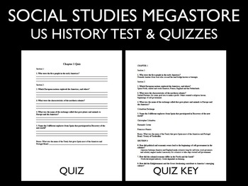 US History Tests First Semester