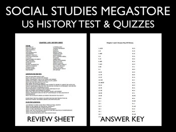 US History Tests Full Year