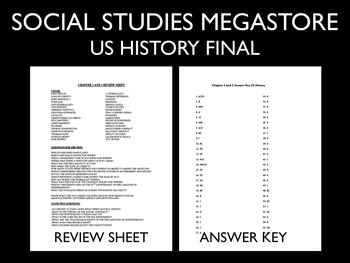US History Finals First and Second Semester