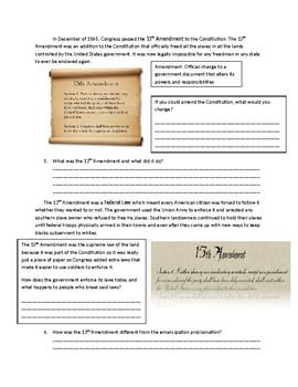US History: The 13th Amendment