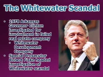 Clinton Presidency / Possible Impeachment PowerPoint (U.S. History)