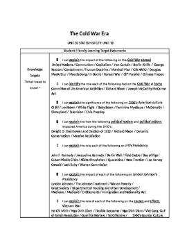 US History: The Cold War Era Common Core Unit Guide