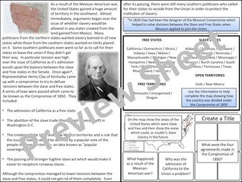 U.S. History - Civil War - The Compromise of 1850