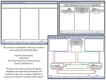 U.S. History - The Constitution - Separation of Powers / C