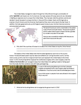 US History: The Critical Period
