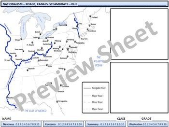 U.S. History - Nationalism - The Cumberland Road, Steamboats, & Erie Canal
