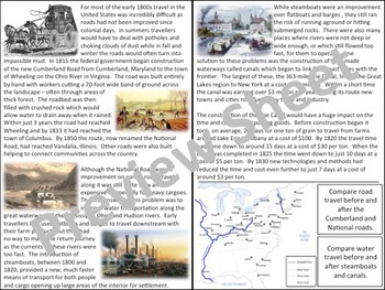 The Cumberland Road, Steamboats, & Erie Canal