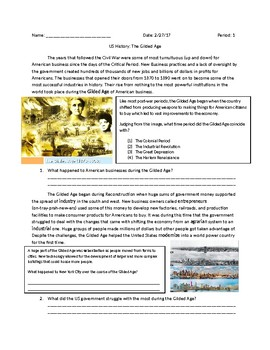 US History: The Gilded Age