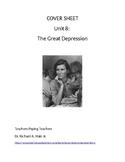 US History: The Great Depression Common Core Unit Guide