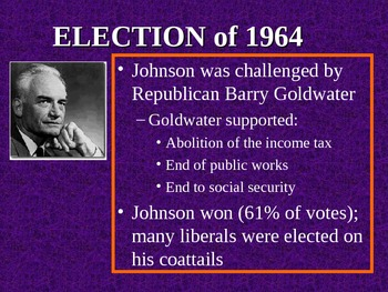 The Great Society (LBJ's War on Poverty) PowerPoint Presentation (U.S. History)