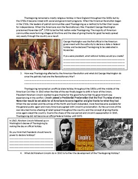US History: The History of Thanksgiving
