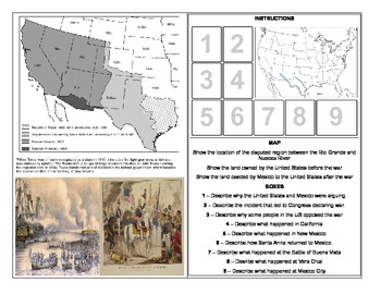US History - The Mexican American War Homework